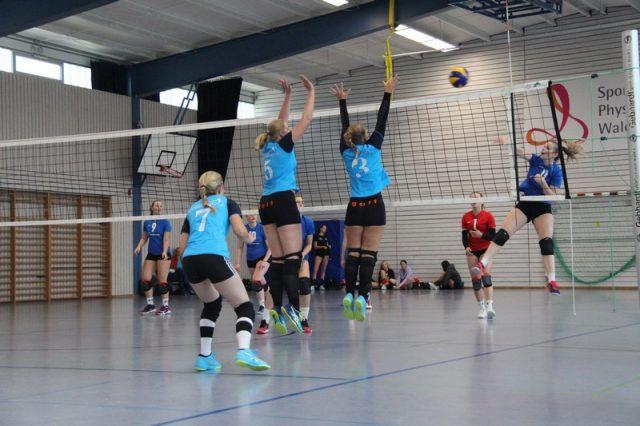 """Damen: Rechenbeispiel erster Heimspieltag: 2 x """"3:0"""" = 6 Punkte"""